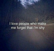 I love people who ...