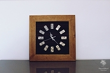 "Dębowy zegar ""Domino&q..."