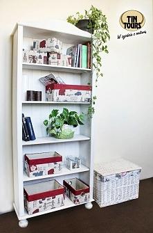 Pudełka obszyte materiałem w modny wzór od koszyki.net.pl szybko uporządkują i fajnie ozdobią Wasz dom.