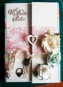 kartka ślubna - scrapbooking