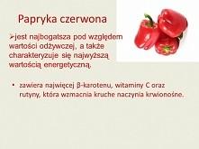 papryka czerwona - wlasciwosci