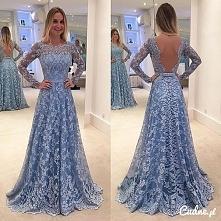Przepiękna suknia z koronką