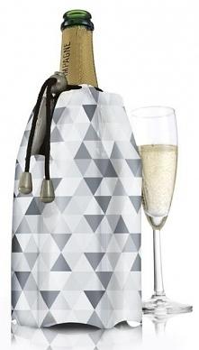 Cooler do szampana, karo szare - Vacu Vin