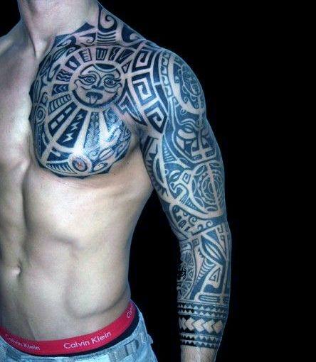 Męski Tatuaż Na Ramie I Pierś Na Tatuaże Zszywkapl