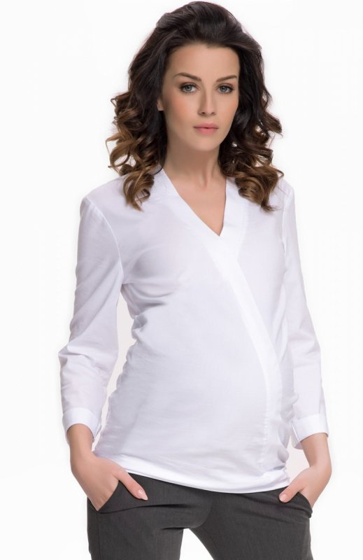Modernistyczne 9fashion Felicita II koszula biała Elegancka koszula damska, kl JO72