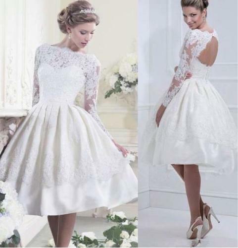 Niesamowite suknia ślubna koronka krótka plecy na Ślub - Zszywka.pl GA57