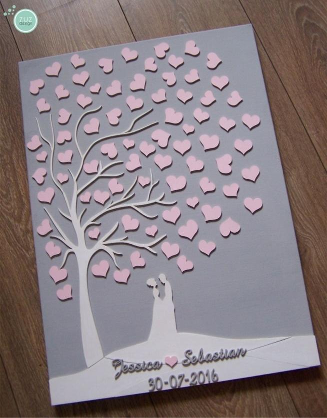 Księga gości w formie obrazu. Dowolna kolorystyka, format 50x70 cm zuzdesign/facebook
