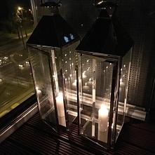 Lampiony srebrne w stylu modern classic