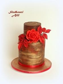 Tort bez masy cukrowej z czekoladowym ganache