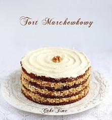 Tort marchewkowy  Składniki( na jedną formę o średnicy 20cm- czyli na 2 warst...