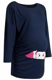 9fashion Olivia II bluzka granatowa Urocza bluzka ciążowa, prosty fason, bluz...