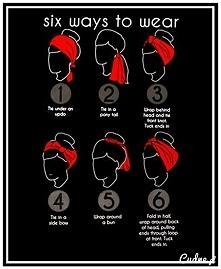 Różne sposoby wiązania chusty