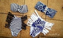 Sprzedam od ręki poniższe bikini. 1. S - wypada na mniejsze 2. M i L, także mniejsze Cena po 65 zł