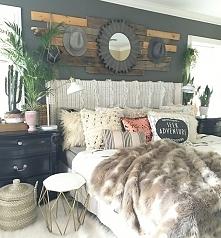 stylowa sypialnia, dekoracje do sypialni, pościel, poduszki, koce, pledy