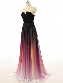 suknia długa do ziemi cieniowana