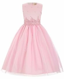 sukienka z perełkami dla dziewczynki