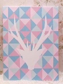 obraz na płótnie wykonany farbami akrylowymi, 30x40 cm