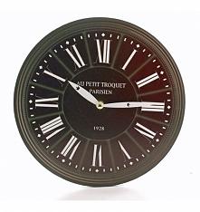 Zegar wiszący w kolorze czarnym - tarza wykonana z mdf. Wskazówki zegara metalowe w kolorze białym. Piękny zegar, który będzie pasował na jasną lub białą ścianę. Mechanizm zegar...