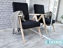 Fotel skandynawski, surowe drewno do pomalowania własną bejcą np. białą :) Fotel idealny do salonu,pokoju itp. w najróżniejszych tkaninach do wyboru