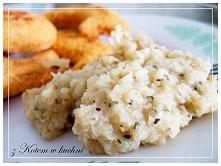 Puree z Kalafiora - Dieta Dukana  kalafior 1 cebula mleko sól przyprawy: czosnek, koper, natka, pieprz, sól, tymianek  &mix it