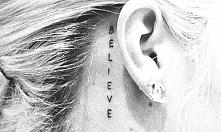 Dzisiaj tak z innej beczki, strasznie spodobały mi się tatuaże za uchem. Dajcie koma w jakich miejscach wam się najbardziej podobają.
