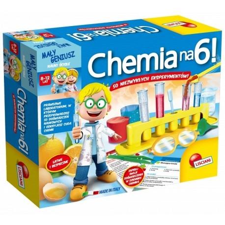 Witajcie,   Dzisiaj zaczynamy od zestawu dla początkujących chemików:)  Mały Geniusz - Chemia na 6 to Mini laboratorium dla Dzieci od 8-12 lat do przeprowadzenia 50 zabawnych i bezpiecznych eksperymentów.  Zestaw zawiera odczynniki, próbówki, miarki i wiele więcej!   Sprawdźcie sami:)