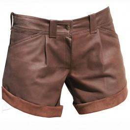 Skórzane szorty z mankietami. Do zamówienia w dowolnym rozmiarze i kolorze w butiku Łatka fashion