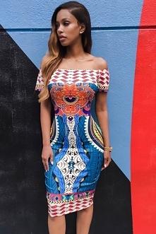 sukienka afrykańskie wzory