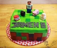 Co powiecie na tort z figurkami Minecraft? Wasze dzieci też w to grają?
