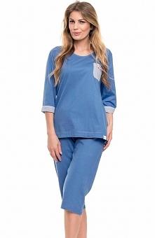 Dobranocka PB.9139 piżama Wygodna i komfortowa piżama, bluzka z rękawem 3/4, ...