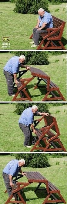2w1 ławko-stolik