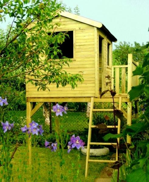 Drewniane domki dla dzieci są przyjazne środowisku, a dzieci je uwielbiają!