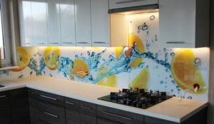 Panel szklany do Kuchni z grafiką z owocami - w tym wypadku pomarańcze