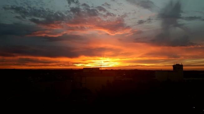 sunset in München