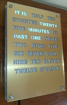 gold word clock