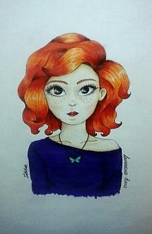 """Oto rysunek od jednej z czytelniczek, którą zainspirowała postać z """"Egze..."""