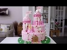 Zamek księżniczki tort krok po kroku tutorial ang [klik]