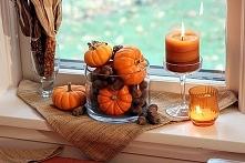 Jesienna dekoracja okna