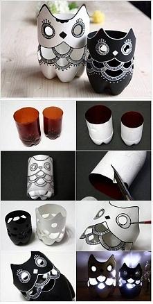 kreatywny pomysł na wykorzystanie plastikowych butelek :)