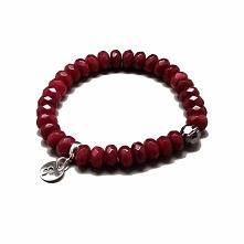 Jadeit w kolorze rubinowym, piękne fasetki odbijające światło w gartagallery.pl