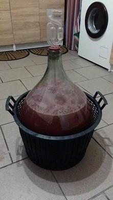 Wino winogronowe juz pracuje ☺ Teraz trzeba czekac :)