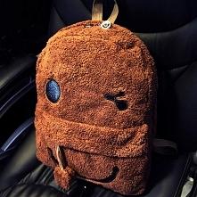 pluszowy plecak uśmiechnięta buzia pompon link do sklepu pod zdjęciem w komen...
