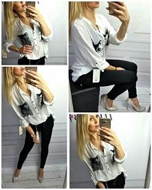 BIAŁA KOSZULA SELLA Kliknij w zdjęcie by przejść do sklepu <3 modneska.pl