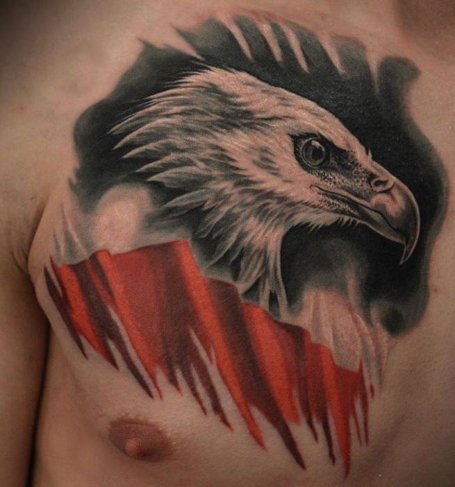 Tatuaże Patriotyczne Polskie Orzeł Na Ciekawe Tatuaże Zszywkapl