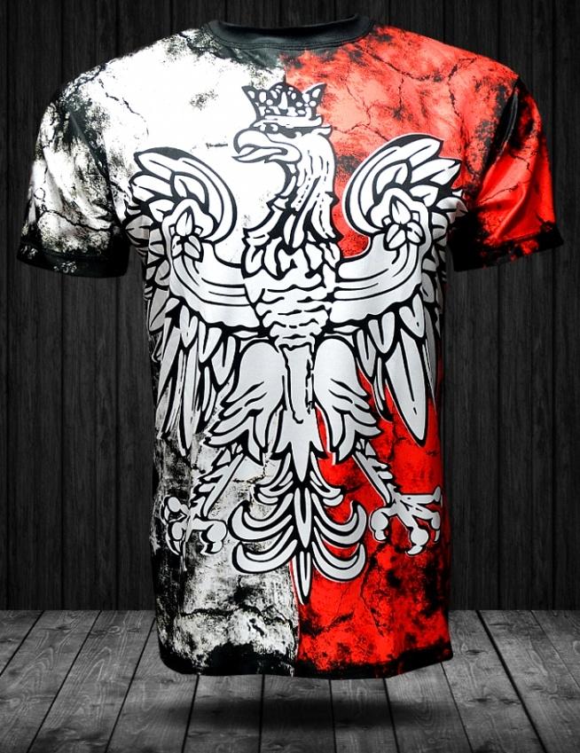 Koszulka patriotyczna z pełnym nadrukiem marki Heroes Patriae