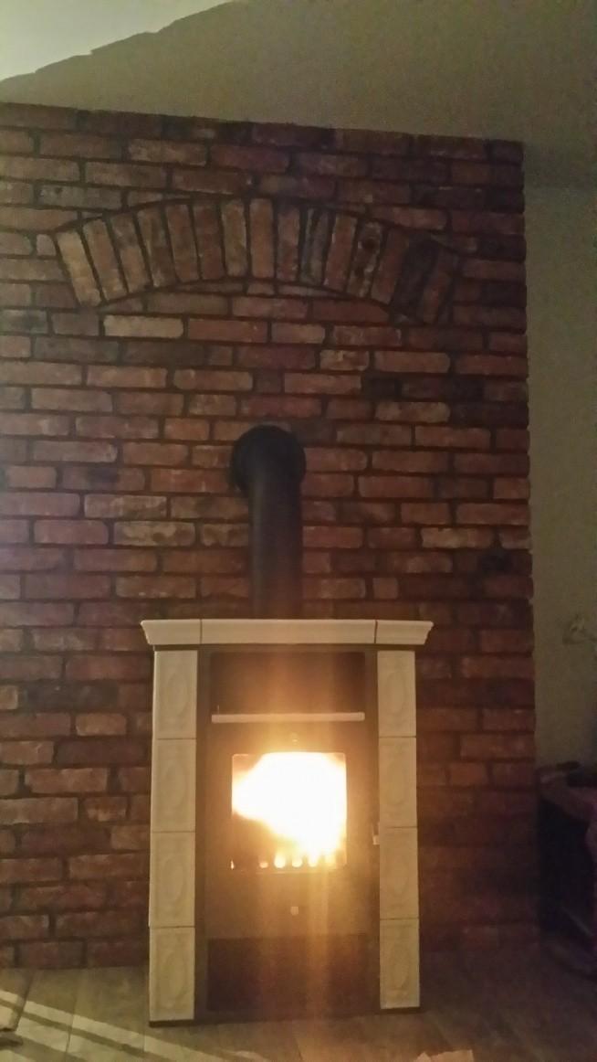 Pierwszy ogień w moim kaflowym cudzie...