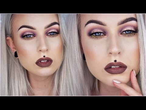 Sexy Halo Eye with Yellow Lashes; Brown Lips | Evelina Forsell