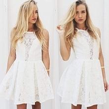 Koronkowa sukienka z prześw...