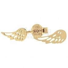 Anielskie kolczyki ze skrzydełkami - pozłacane srebro próby 925 - kolekcja GESELLE Jubiler