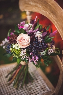Jesienny bukiet ślubny